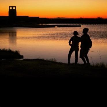 sunset at Lea Lake